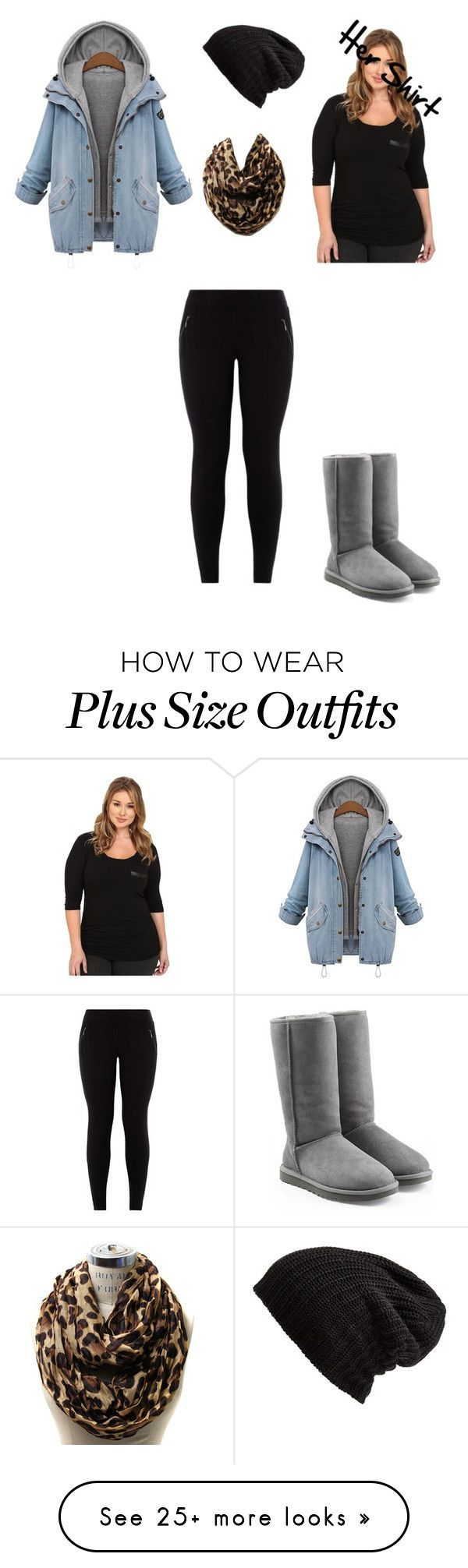 """Untitled #52"" by into-fashion on Polyvore featuring Soybu, UGG Australia, Free People and plus size clothing"