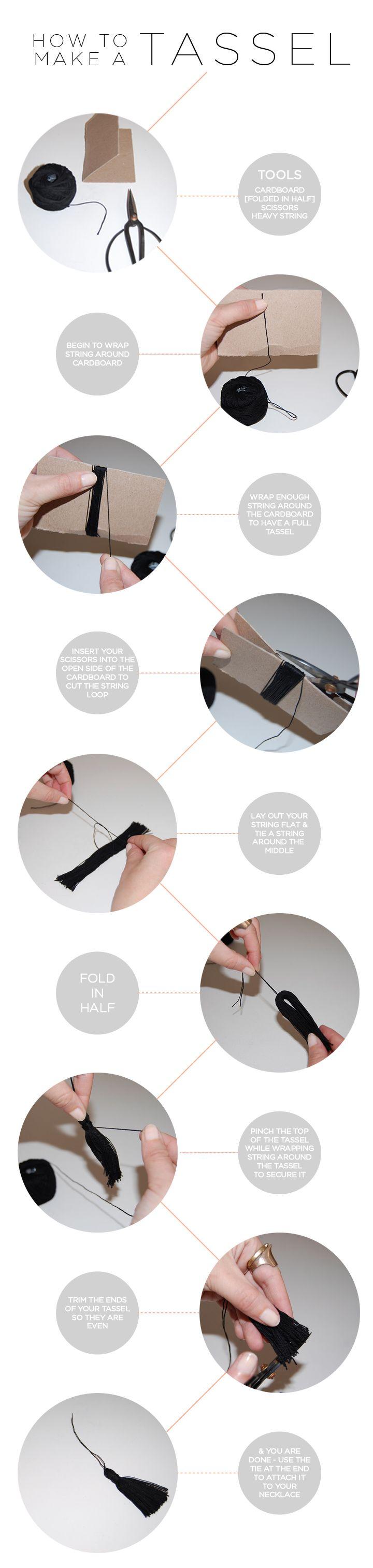 DIY How to make a Tassle.