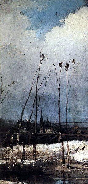 """Грачи прилетели"" - Alexei Savrasov (1880)"