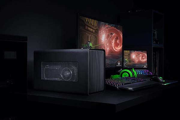 Razer Core X Thunderbolt 3 External Graphics Enclosure For Windows 10 And Mac Gadgetsin Razer Gaming Laptop Setup Laptop Accessories