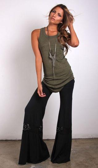 NIGHTCAP CLOTHING CROCHET BEACH PANT BLACK $172- CALL SPLASH TO ORDER 314-721-6442