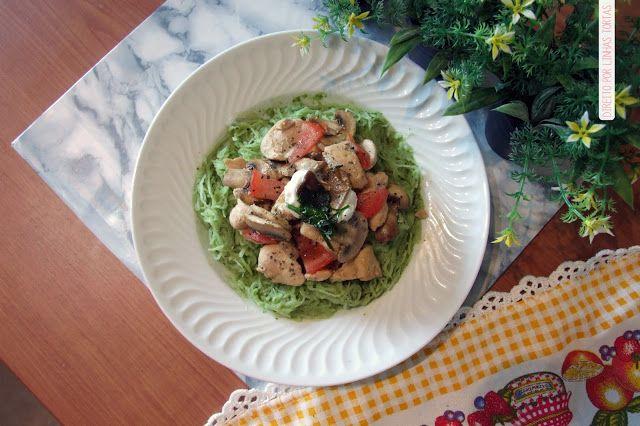 Direito por linhas tortas: Get Fit | Esparguete de abóbora com pesto de espinafres