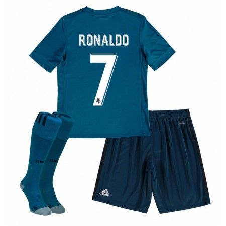 Real Madrid Cristiano Ronaldo 7 Tredje trøje Børn 17-18 Kort ærmer #Billige Fodboldtrøjer
