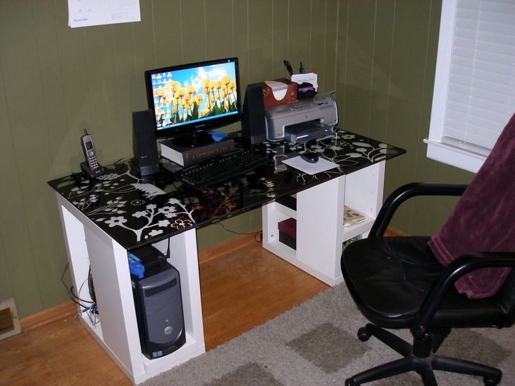 25+ best Custom computer desk ideas on Pinterest | Custom desk, Diy computer  desk and Industrial desk