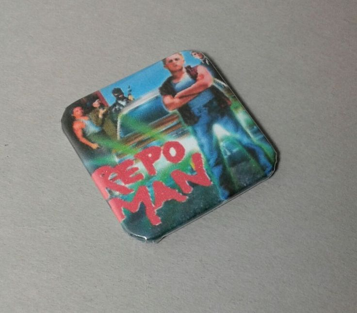 "Repo Man 80's Science Fiction New 1.5"" Backpack Button Pin"