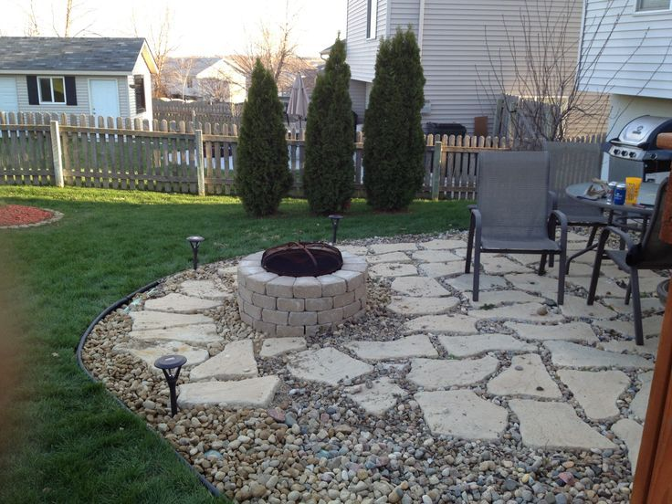 Image result for lowes pea gravel patio plan