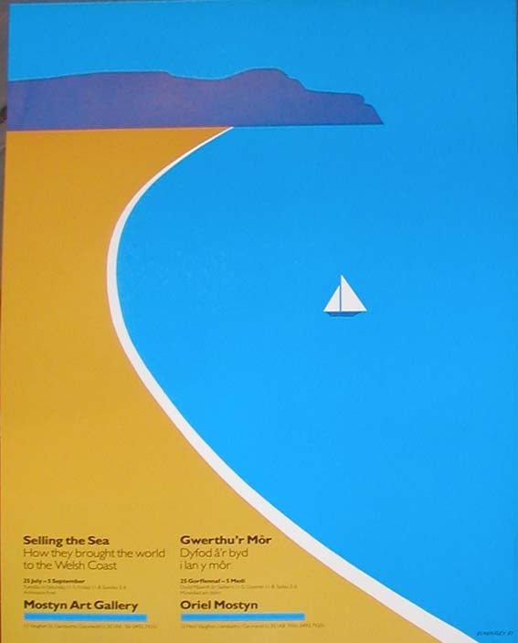 1980's Welsh exhibition poster by Tom Eckersley
