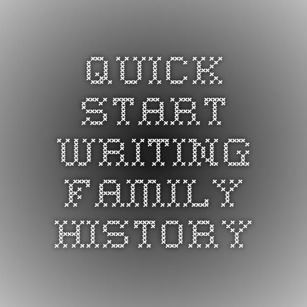 Starting an essay about family