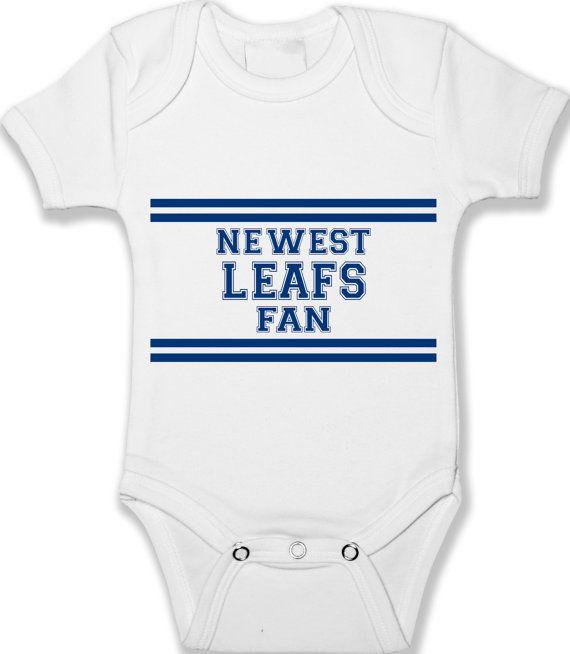 Baby Onesie Toronto Maple Leafs Fan Custom Bodysuit by babyprintCA