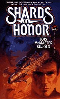 Cover of Shards of Honor, the first book in the series.