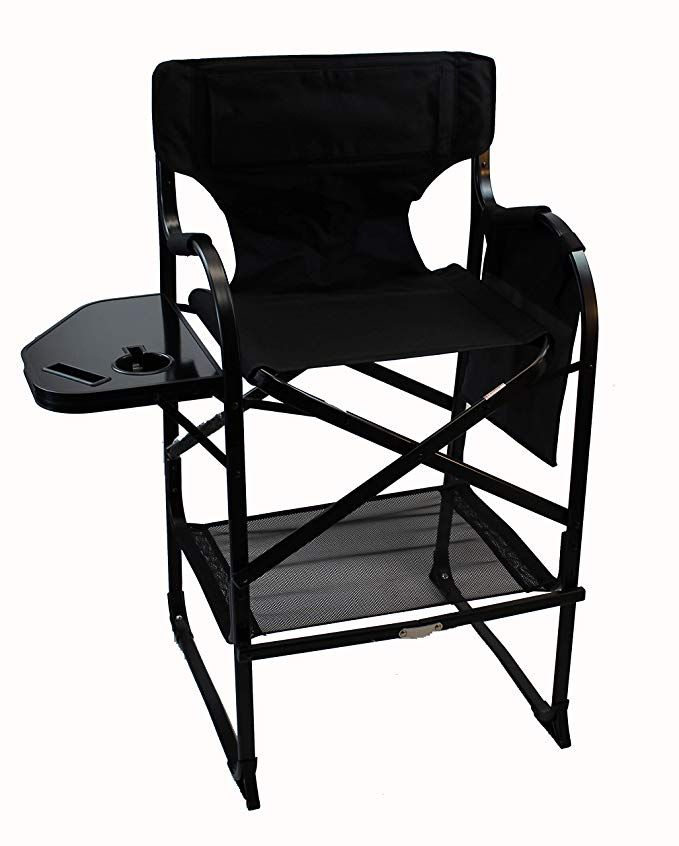 World Outdoor Products Professional Edition Tall Directors Chairs With Side Table Built In Cup And New Cellphone Holder Chair Directors Chair Camping Furniture