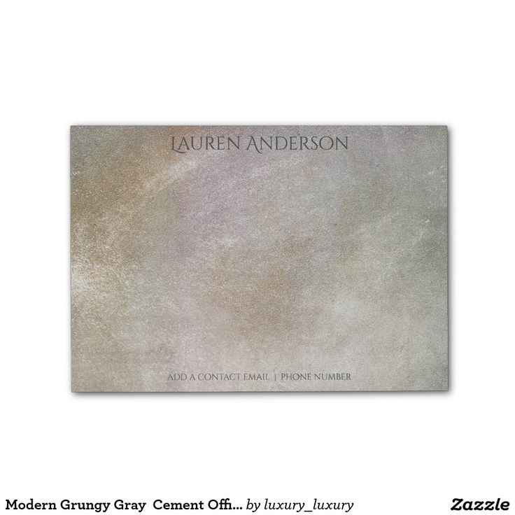 Modern Grungy Gray  Cement Office Personalized Post-it® Notes