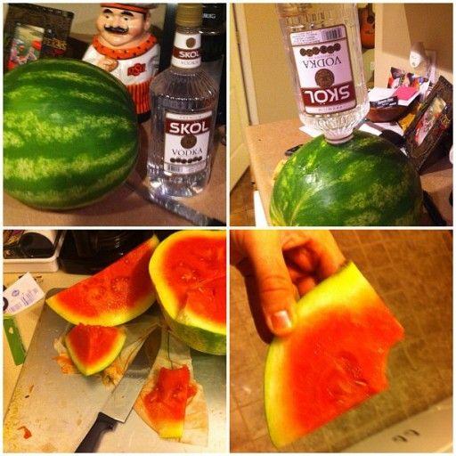 Dronken watermeloen met wodka als dorstlesser - Culy.nl