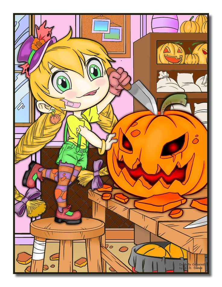 Jade Summer - Chibi Girls Horror Digital Colouring