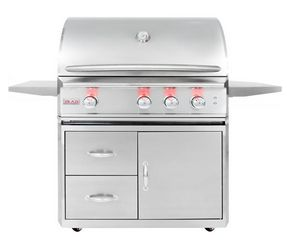 Buy this Blaze Professional 3-burner Propane Gas Grill with Rear Infrared Burner on Cart with deep discounted price online today.