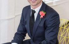 Neon geometric wedding #groom