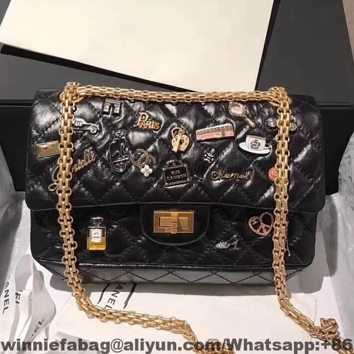 4427fd2515cbcb Chanel Aged Calfskin Lucky Charm 2.55 Reissue Size 225 Bag 2018 ...