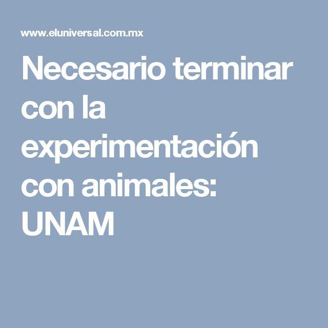 Necesario terminar con la experimentación con animales: UNAM