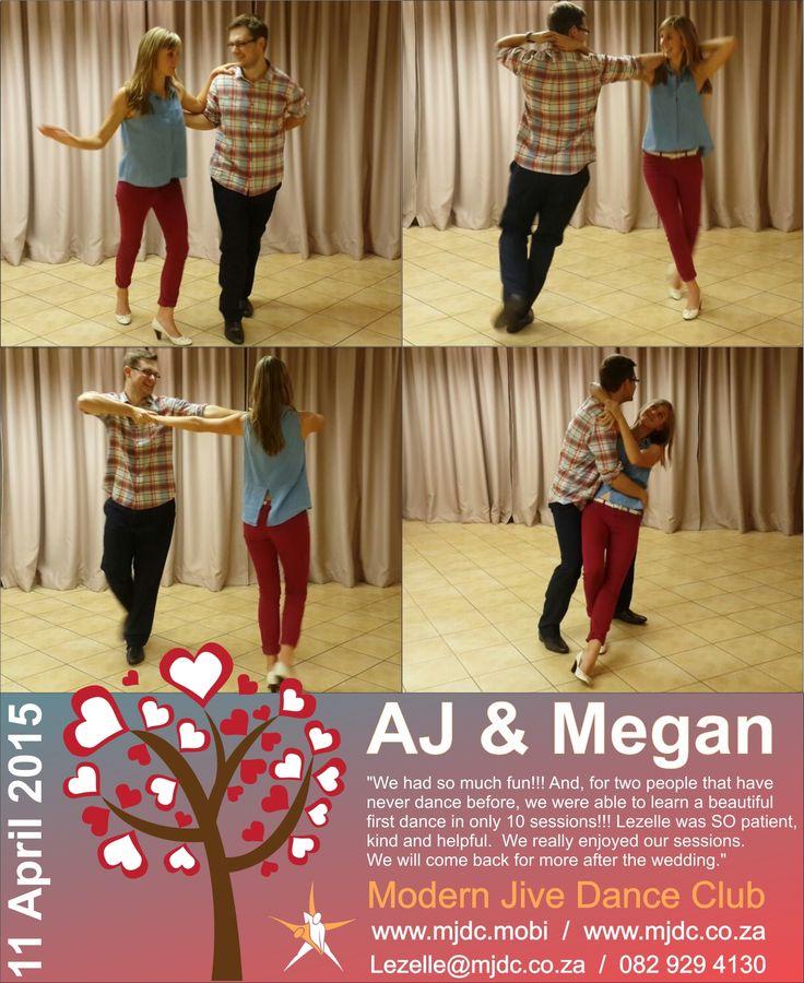 Congratulations AJ & Megan  www.mjdc.co.za
