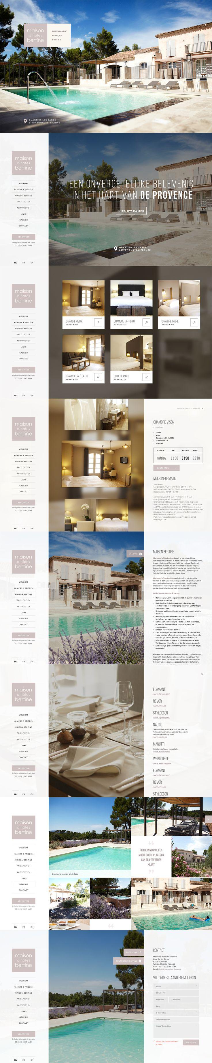 Website for Maison Bertine - Bed&Breakfast in the Provence - Designed by Weblounge - www.weblounge.be #layout #webdesign #website #bed&breakfast #provence #france