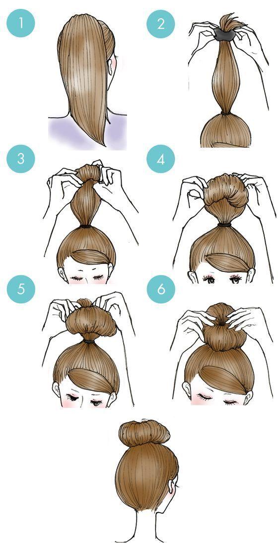 Einfache tägliche Frisuren Schritt für Schritt für Mädchen