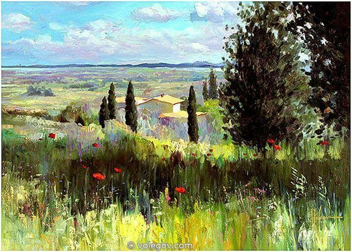 Volegov paintings,  landscape
