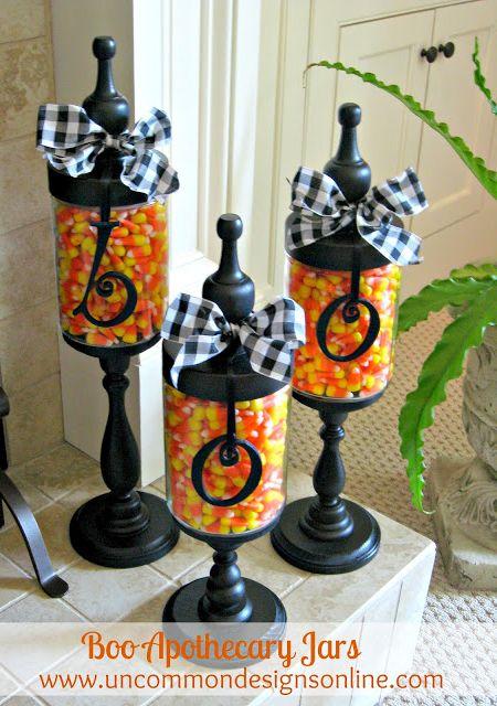 Boo Halloween Apothecary Jars