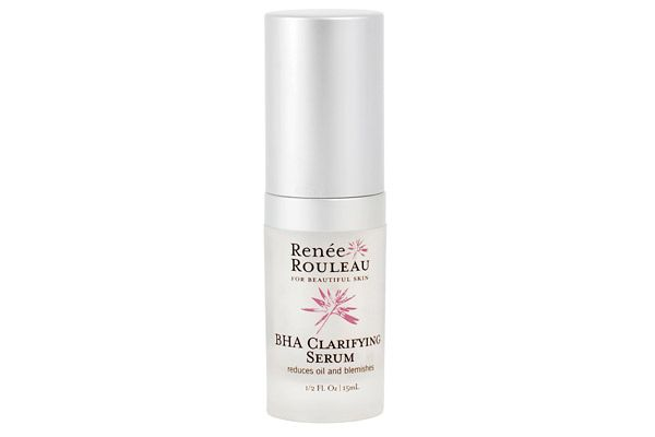 Blackheads just don't stand a chance against the triple threat of lactic acid, glycolic acid, and salicylic acid. Renee Rouleau BHA Clarifying Serum,