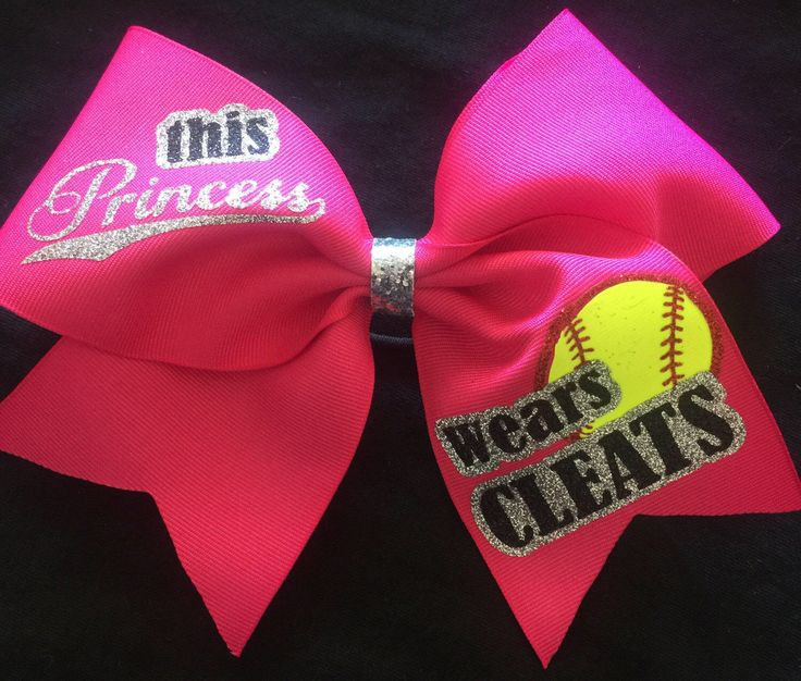 A personal favorite from my Etsy shop https://www.etsy.com/listing/294357091/this-princess-wears-cleats-softball-bow