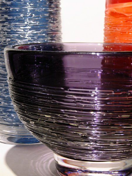 SPUN series art glass, Skruf Glasbruk design of Bengt Edenfalk, 1950s