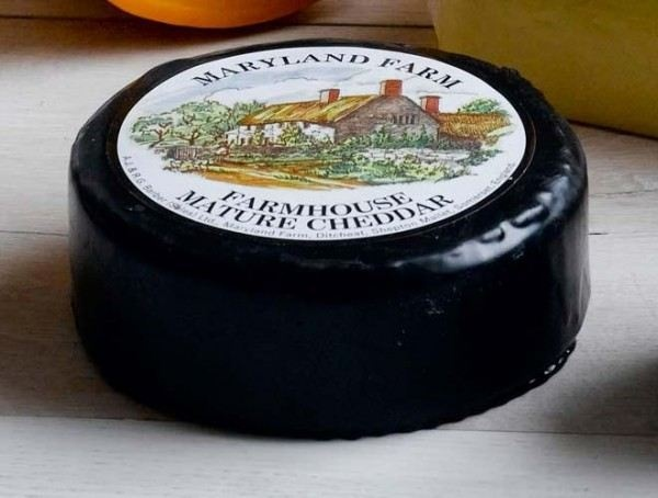 Maryland Farmhouse Mature Black Wax truckles - Amazing Mature Cheddar