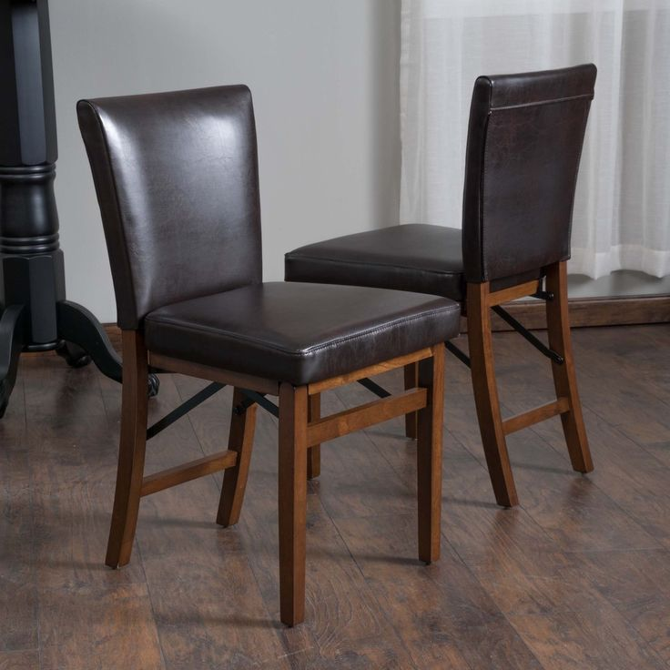 Christopher Knight Home Lane Bonded Leather Folding Dining Chair (Set of 2) - Overstock™ Shopping - Great Deals on Christopher Knight Home Dining Chairs