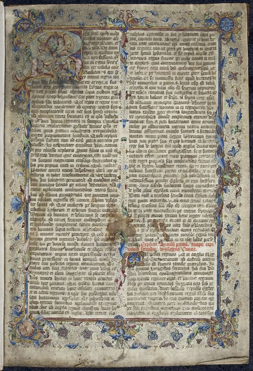 From the Medieval Manuscripts blog post 'The Last Will and Testament of Alfred the Great'. Image: Opening page of the Liber de Hyda
