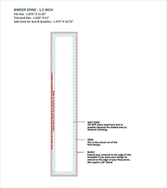 Binder Spine Template 2.5 Inch