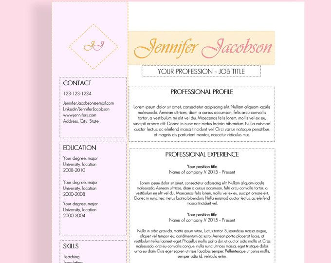 16 best Resume templates images on Pinterest Cv template, Resume - resume templates it professional