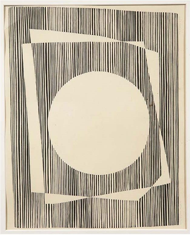 Josef Albers (1888-1967)  White circle (Weisser Kreis) 1933 Woodcut in black 29 x 35.7 cm