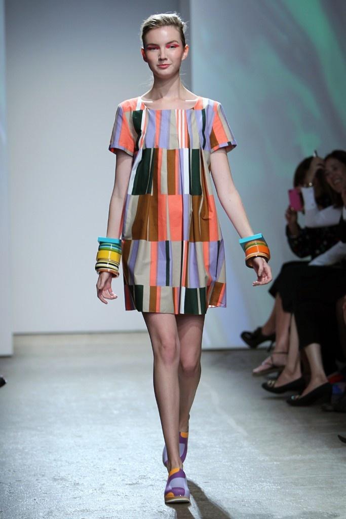 Marimekko Likka dress: love the horizontal stripe-blocks and shape of the dress.