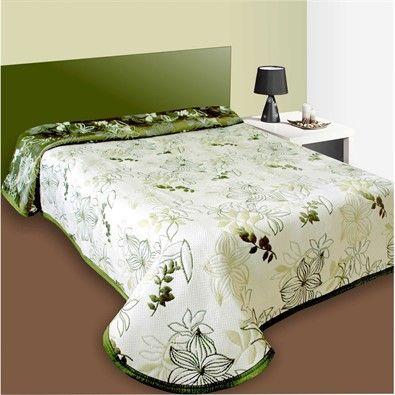 Prehoz na posteľ Lisabon zelený, 240 x 260 cm