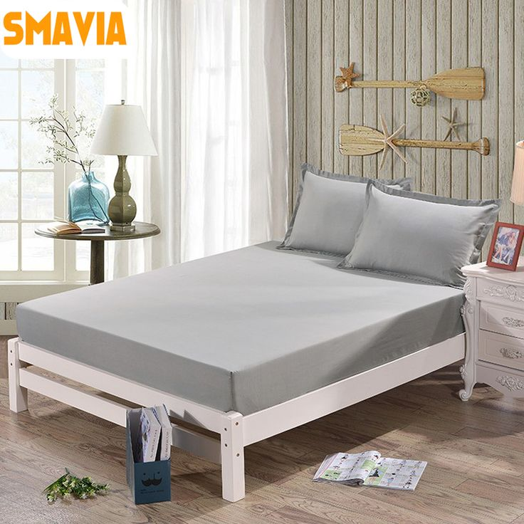 Hot Sale Solid Bed Sheets Home Textile 100% Polyester Mattress Cover Fitted Sheets or 2pcs pillowcase with Elastic Bed Sheet