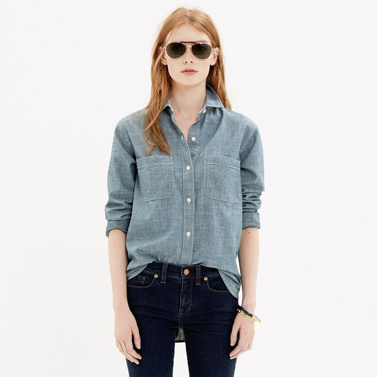 The Perfect Chambray Shirt in Wilder Wash - shirts & tops - Women's NEW ARRIVALS - Madewell