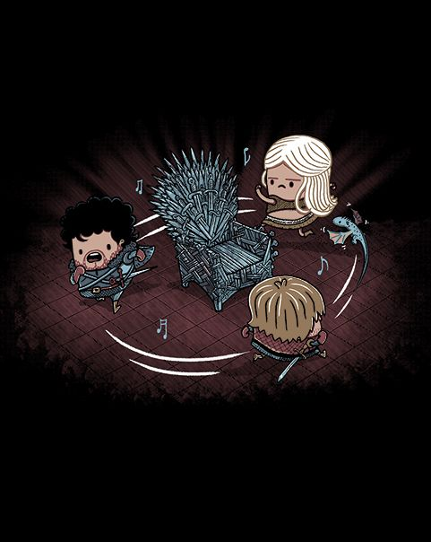 Game of Chairs [ShirtPunch] by OdysseyRoc. Game of Thrones musical chairs - I love this!