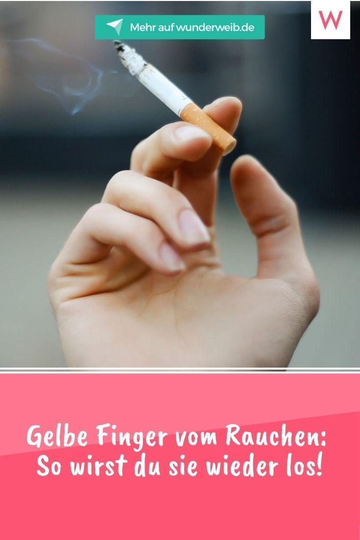 Gelbe Finger vom Rauchen: So wirst du sie los