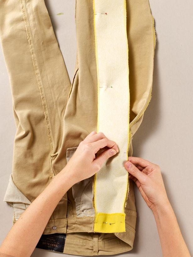Una forma sencilla de aumentar el tamaño de los pantalones vaqueros a 2 tamaños.