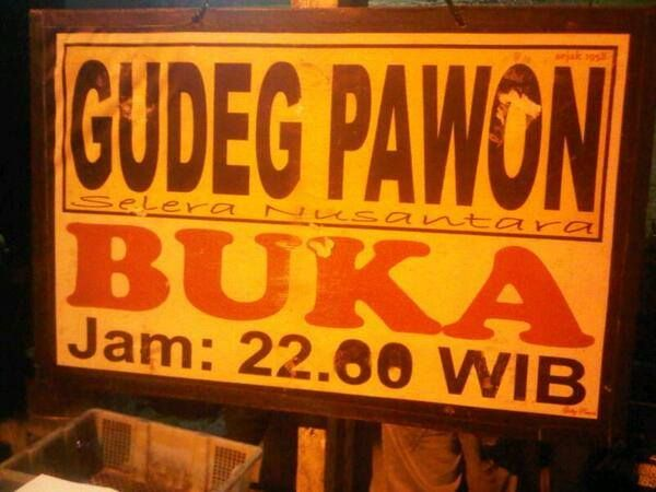 One of the best gudeg's place