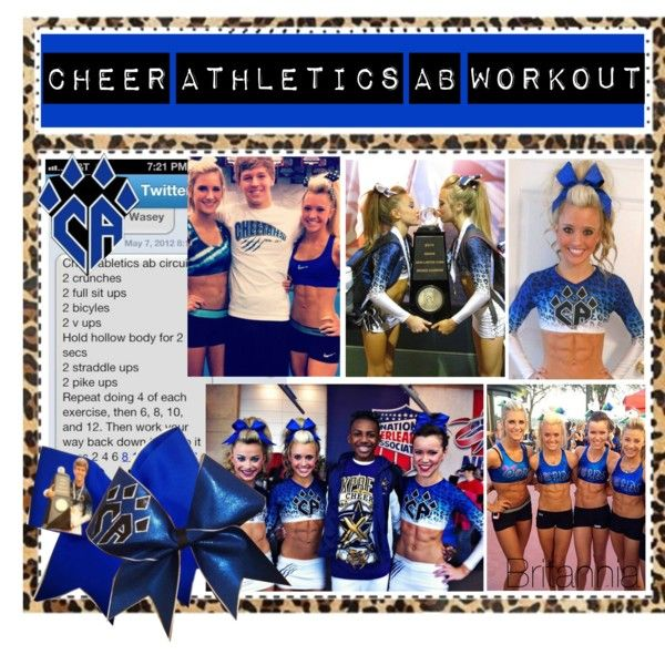 """""""Cheer Athletics Ab Workout"""" by poly-tip-gurls on Polyvore"""