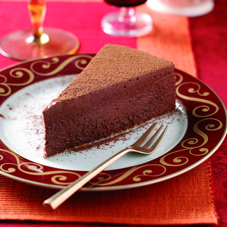 Dark #chocolate and whipping #cream gives this decadent tart the soft texture and rich flavor of a chocolate #truffle