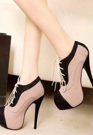 Stylish Color Block High Heel Pumps