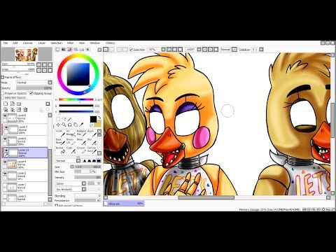 [SpeedPaint] Chica's generations (Five Nights at Freddy's) - YouTube