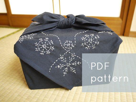 los copos de nieve sashiko patrón--frontera de vacaciones de invierno--mano moderna bordado