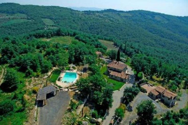 Kleines Landhaus Castellina in Chianti  - Luftaufnahme